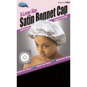 DREAM Bonnet en satin pour cheveux Noir XL