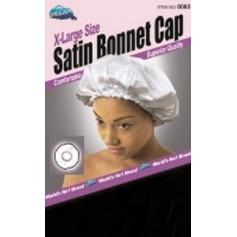 Bonnet en satin pour cheveux Noir XL DRE083B