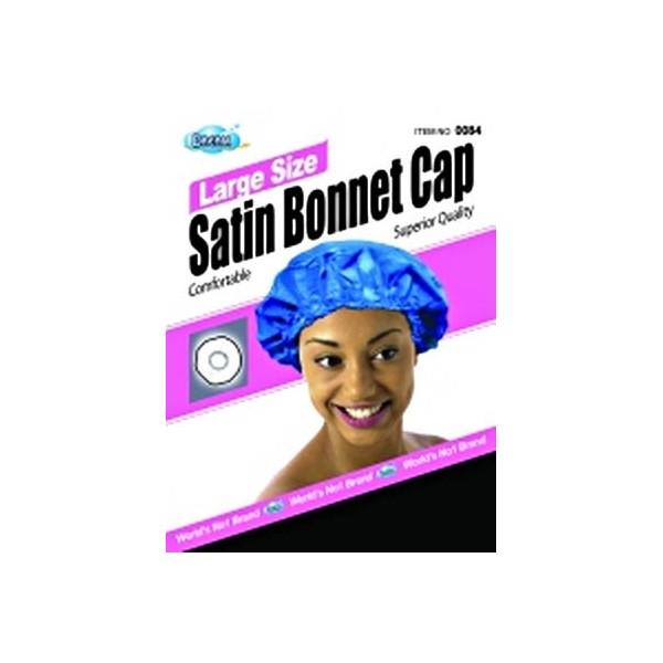 DREAM Bonnet en satin pour cheveux Noir L