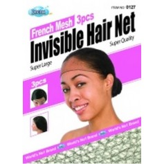 Bonnet filet invisible DRE127 (French Mesh) x3