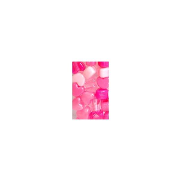 Chloe Perles en coeur x35 avec crochet 10cm MPK