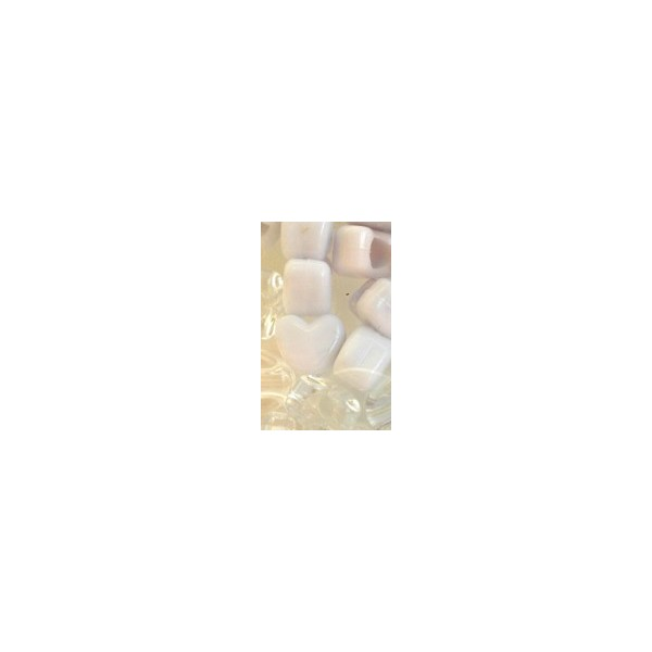 Chloe Perles en coeur x35 avec crochet 10cm WC
