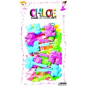 Chloe Barrettes cheveux Twin bear x16 SAB
