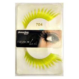 Amazing Shine False Lashes Fashion Yellow Dramatic 704