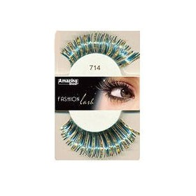 Amazing Shine Faux cils Fashion Bleu métallique 714