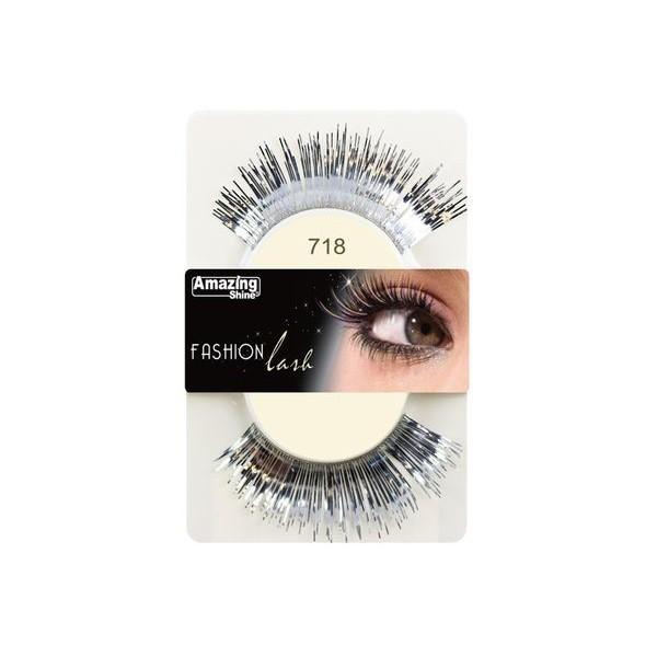 Amazing Shine Faux cils Fashion Argent métallique 718