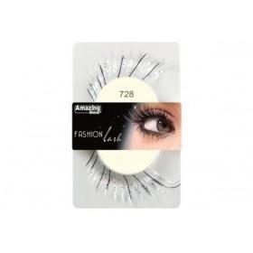 Amazing Shine Fashion False Lashes Dramatic White 728