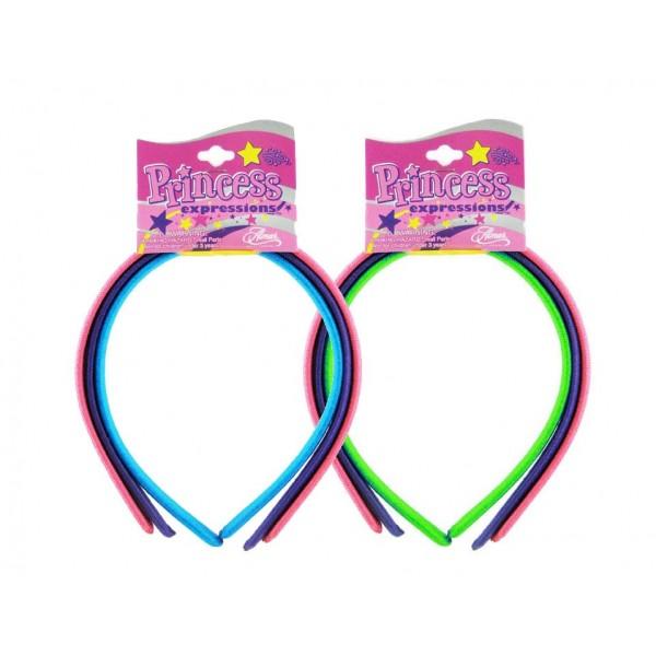 Princess Serre-têtes Neon coloris assortis x3