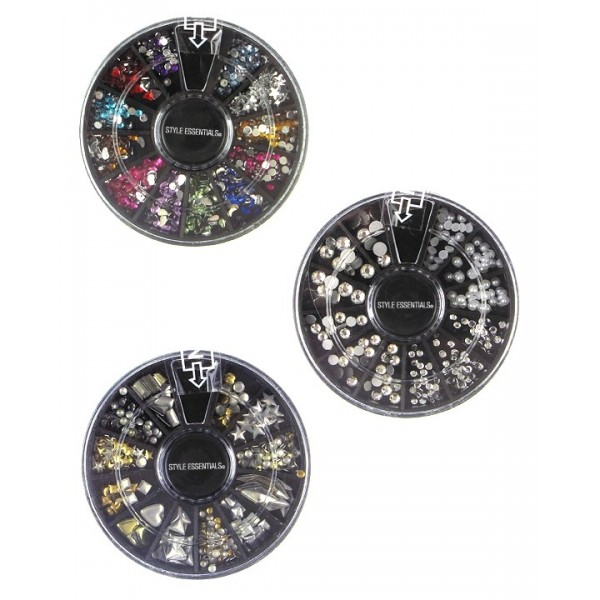 Expressions Carrousel strass autocollant pour ongles x3