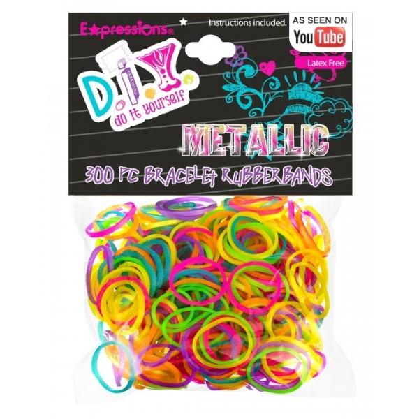Expressions Mini élastiques Rainbow Loom x 300 metallic