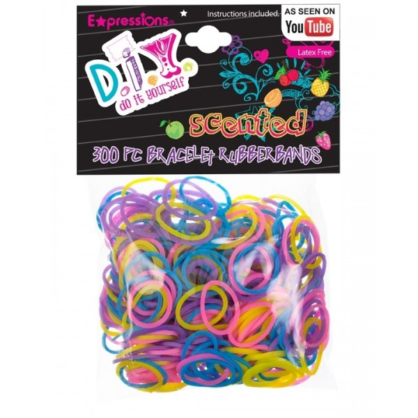 Expressions Mini élastiques Rainbow Loom x 300 scented