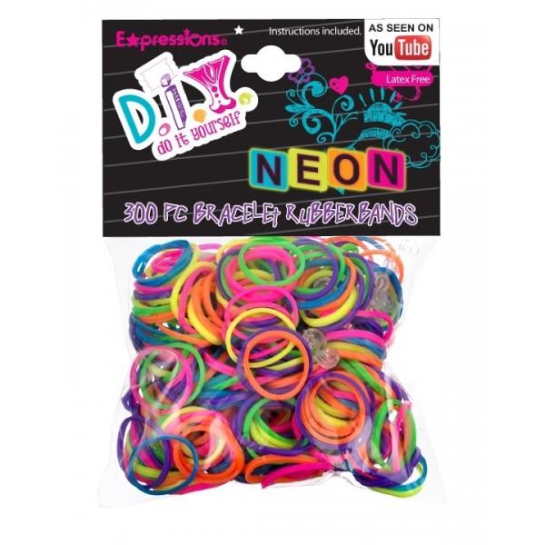 Expressions Mini élastiques Rainbow Loom x 300 neon