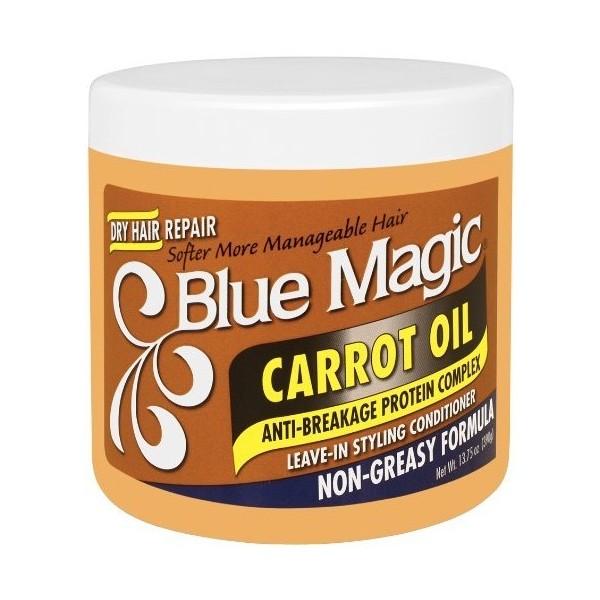 BLUE MAGIC Après-shampooing anti-casse huile de CAROTTE 390g