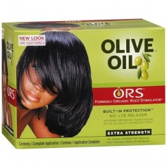 Kit défrisant à l'huile d'olive (formule Super)