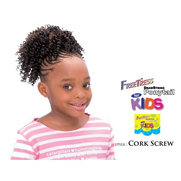 "Freetress postiche enfants ""CORK SCREW"""