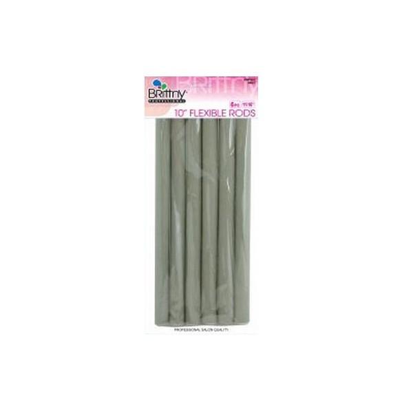 "Bigoudis Flexi Rods 10"" Grey 14mm (x6)"