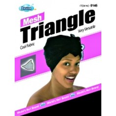 Bonnet turban triangle DRE145 (Mesh Wrap)