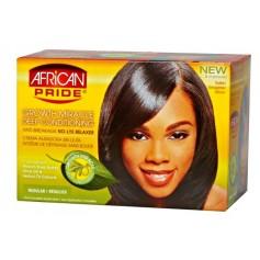 AFRICAN PRIDE Kit défrisant anti-casse Olive miracle (Regular)