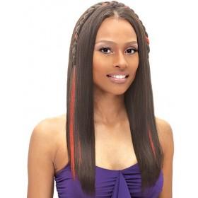 BLACK BRAID BAND STRAIGHT hairpiece