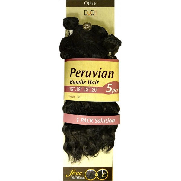 OUTRE tissage DUO PERUVIAN BUNDLE 5 pcs (Batik)