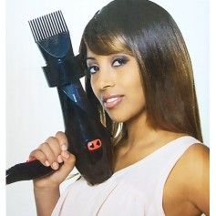 Hair dryer with afro comb tip