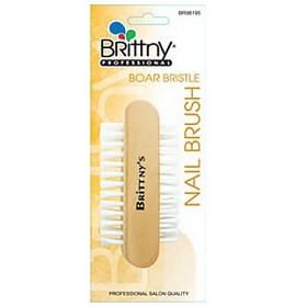 Brittny Brosse à ongles double face (Boar Bristle)