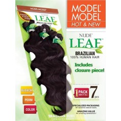 MODEL tissage brésilien NUDE LEAF NATURAL LONG BODY WAVE 7 Pcs *