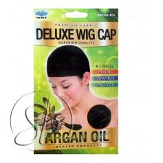 """Bonnet perruque NOIR traité à l'ARGAN """"Wig Cap"""" DRE 5097"""
