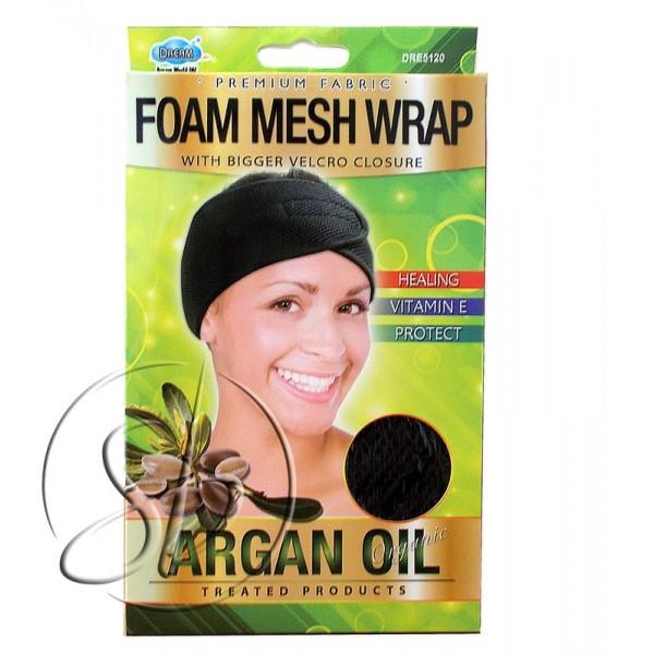 """Bonnet velcro mousse et maille à l'ARGAN """"Foam mesh"""" DRE5120"""