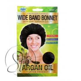 "DREAM Bonnet nuit satin à l'ARGAN ""Wide band"" DRE5073"
