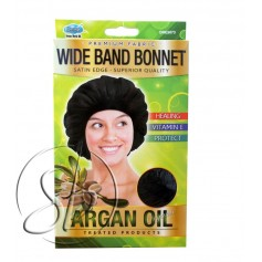 "Bonnet nuit satin à l'ARGAN ""Wide band"" DRE 5073"
