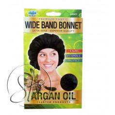 "Satin nightcap with ARGAN ""Wide band"" DRE 5073"