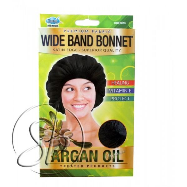 """DREAM Bonnet nuit satin à l'ARGAN """"Wide band"""" DRE5073"""