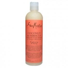 "Shea Moisture Coconut & Hibiscus Shower Gel ""Brightening wash"" 384ml"