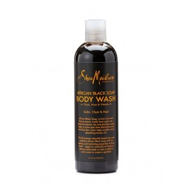 "Shea Moisture Gel douche African Black Soap ""Calm Skin Wash"" 384ml"
