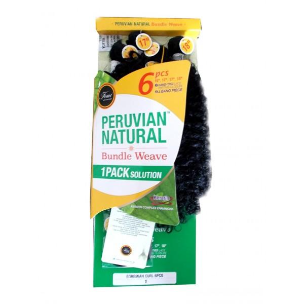 FEMI tissage BOHEMIAN CURL 6PCS (Peruvian natural