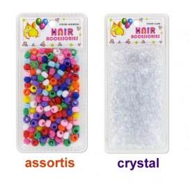 BRITTNY Round plastic beads x 500