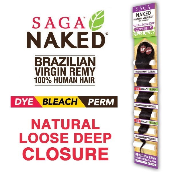 SAGA Closure brésilien LOOSE DEEP (Naked)