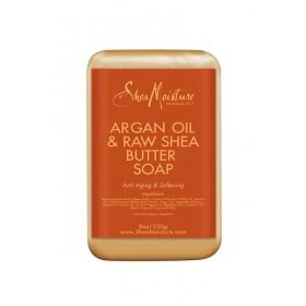 SHEA MOISTURE Savon huile d'argan et karité pur 230g (Anti-aging & softening)