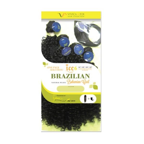VivicaFox tissage Brazilian BOHEMIAN CURL (Ice6)