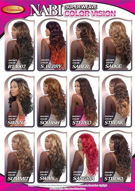 Nouveaux coloris de tissages Vanessa Wigs
