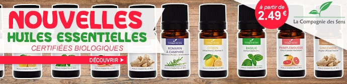 Nouvelles huiles essentielles bio de la compagnie des Sens