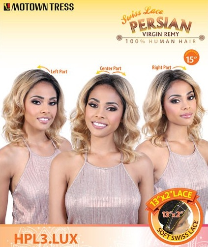 MOTOWN TRESS perruque HPL3 LUX (Swiss Lace Front)