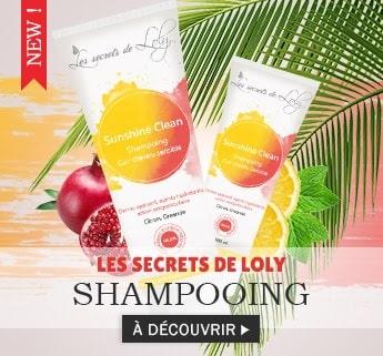 Nouveau shampooing SUNSHINE CLEAN de la marque SECRET DE LOLY