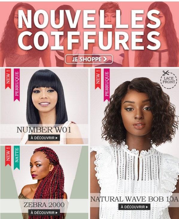 Nouvelles coiffures FIN SEPTEMBRE 2019 >>>
