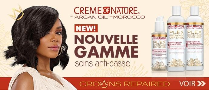 Nouvelle gamme PLEX de la marque CREME OF NATURE >>
