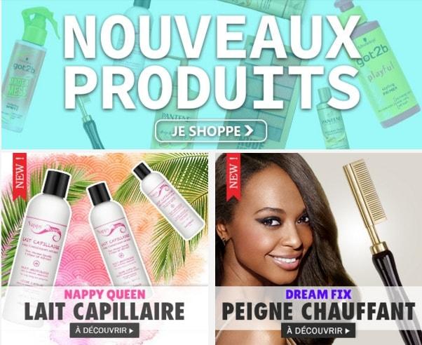 Nouveaux soins capillaires et maquillage fin Août 19, cliquez ICI >>>