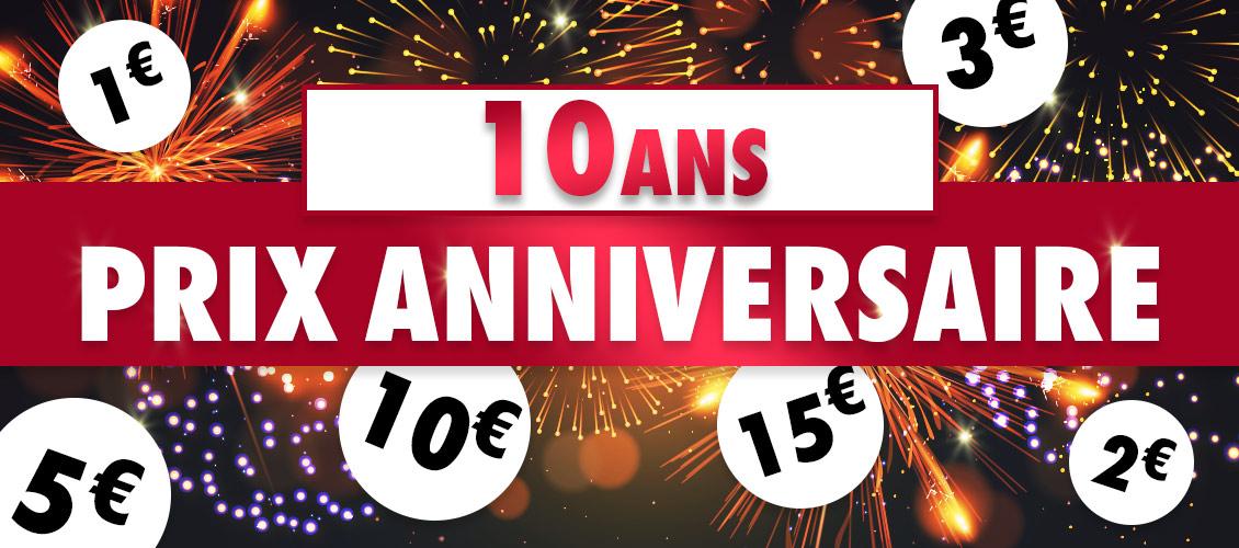 Prix anniversaire 10 ans