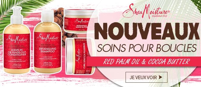 Nouvelle gamme RED PALM OIL de SHEA MOISTURE >