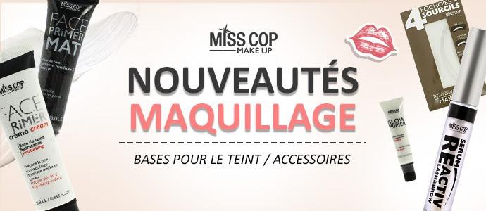 Nouveautés maquillage MISS COP Septembre 2018 >>